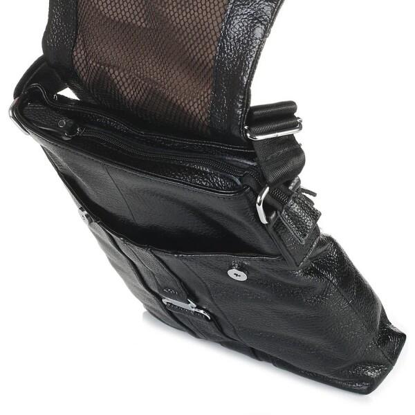 Крупная мужская сумка «Laras» из мягкой крупнозернистой кожи флотар фото 2