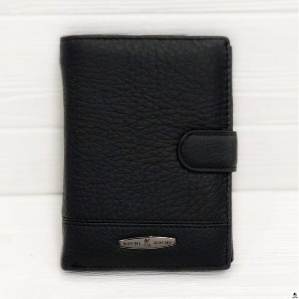 Крупное портмоне «Kochi» из натуральной зернистой кожи чёрного цвета купить. Цена 685 грн