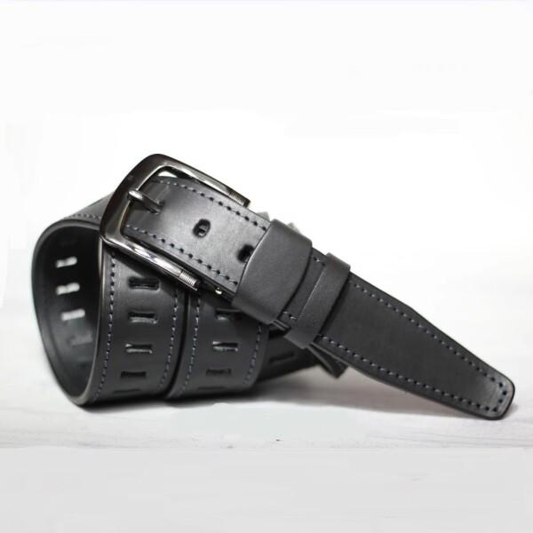Длинный мужской ремень «SFIP» из мягкой натуральной кожи с перфорацией купить. Цена 599 грн