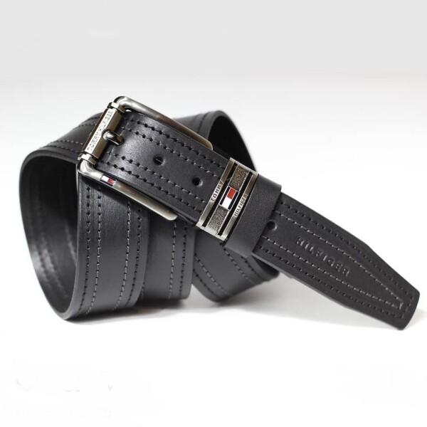 Чёрный ремень «Tommy Hilfiger» из высококачественной натуральной кожи купить. Цена 499 грн