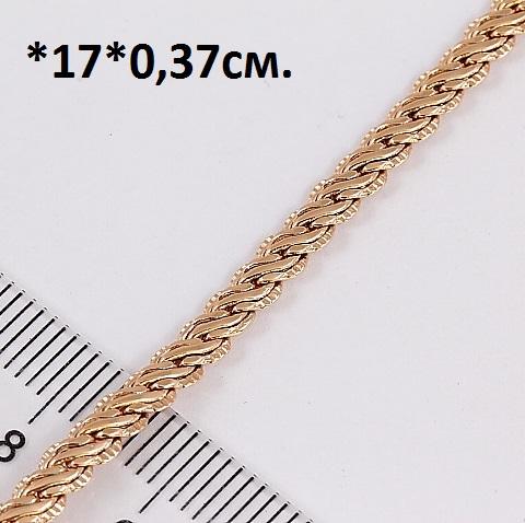 Красивый браслет-цепь с кельтским плетениеми качественной позолотой купить. Цена 199 грн