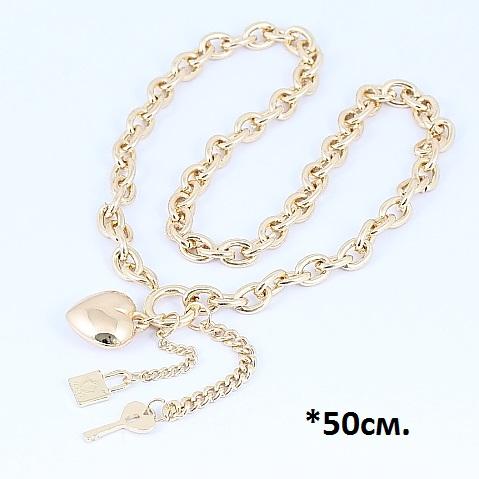 Модная подвеска «Дела амурные» из массивной цепочки и висюлек купить. Цена 299 грн