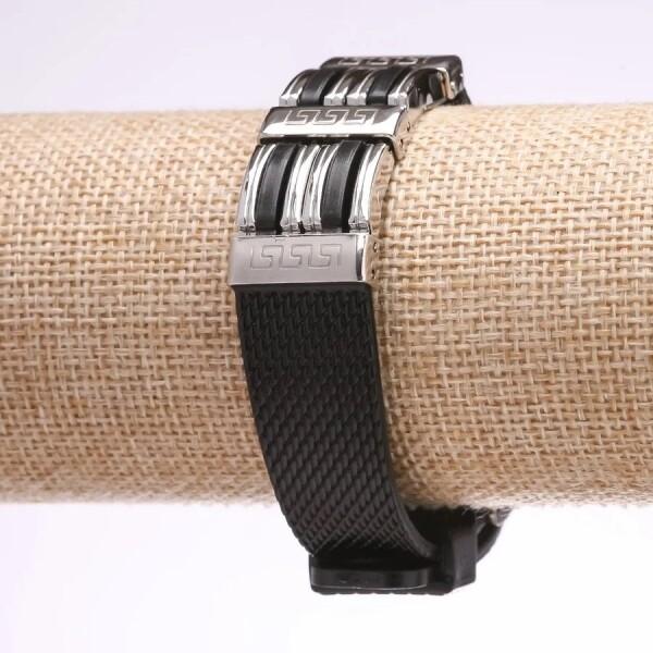 Крутой мужской браслет «Легион» из комбинации стали и полимеров купить. Цена 185 грн