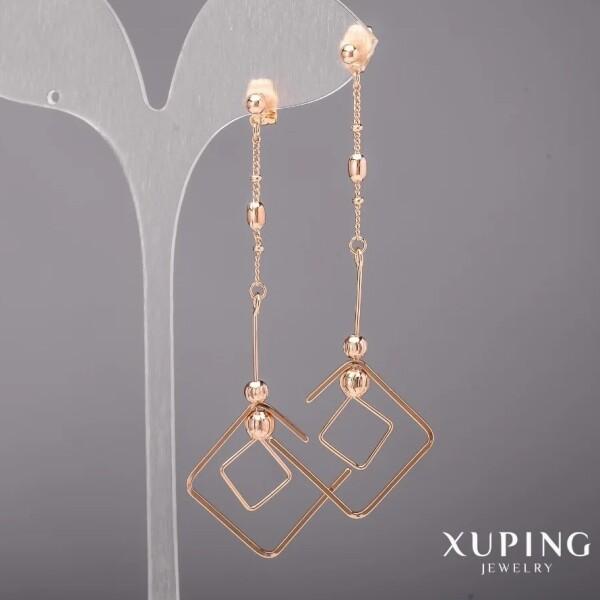 Современные серьги «Кубизм» с высококлассной позолотой от Xuping купить. Цена 250 грн
