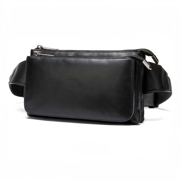 Гладкая сумка на пояс «Westal» из качественной натуральной кожи чёрного цвета купить. Цена 1285 грн