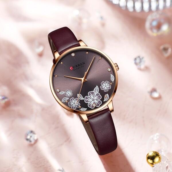 Милые женские часы «Curren» с красивым циферблатом и узким ремешком купить. Цена 1085 грн