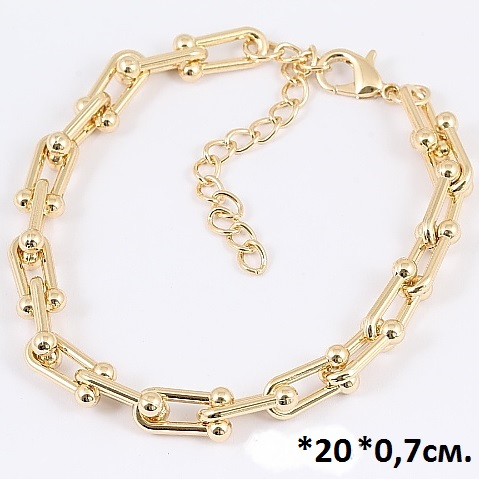 Брутальный браслет «Скобы золотые» без камней и вставок купить. Цена 245 грн