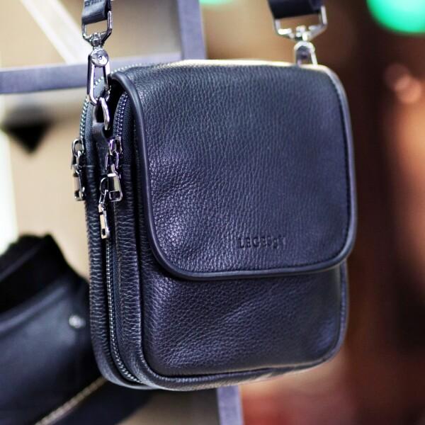 Компактная мужская сумка «Legessy» украинского производства из натуральной кожи купить. Цена 2165 грн