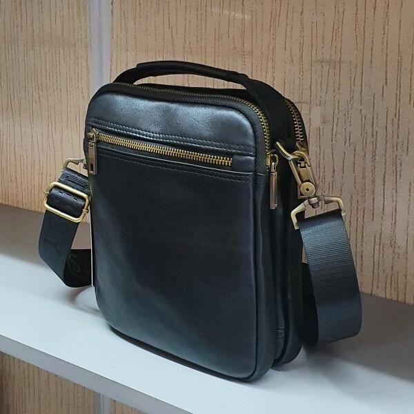 Солидная мужская сумка «Legessy» из гладкой итальянской натуральной кожи фото 1