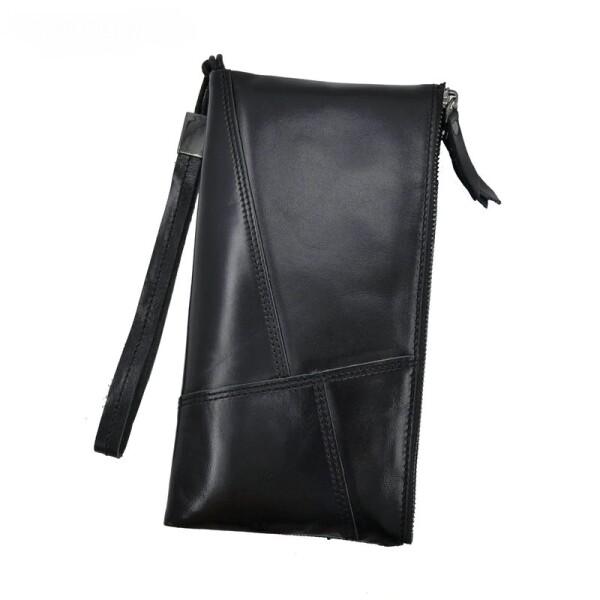 Компактный мужской клатч «Genodern» из мягкой чёрной кожи купить. Цена 1199 грн