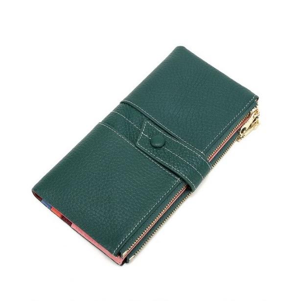Очаровательный кошелёк «X.D.Bolo» красивого зелёного цвета из натуральной кожи купить. Цена 885 грн