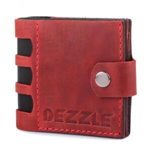 Дерзкий мужской бумажник «Dezzle» из красной кожи «crazy horse» купить. Цена 750 грн