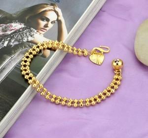 Лёгкий браслет с 18-ти каратным золотым напылением и маленьким кулоном в виде сердца купить. Цена 120 грн или 375 руб.