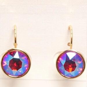 Небольшие серьги «Ренада» с необычным цветом камня от Сваровски купить. Цена 199 грн