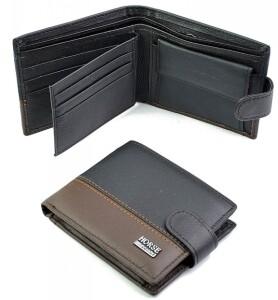 Классический мужской бумажник «Imperial Horse» из чёрной натуральной кожи купить. Цена 399 грн