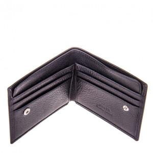 Суперкомпактный мужской бумажник «Karya» из натуральной турецкой кожи фото 2