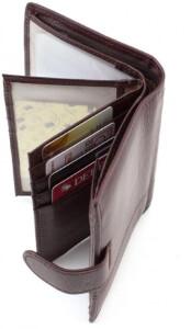 Классическое кожаное портмоне «Tailian» с файликами под автодокументы фото 2