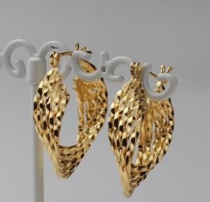 Интересные серьги-полукольца «Корсары» с покрытием под жёлтое золото, без камней купить. Цена 89 грн