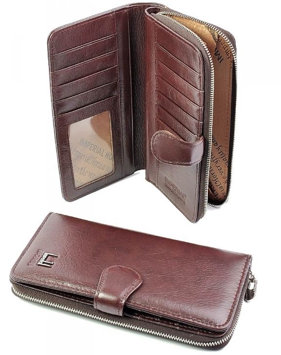 Комбинированный кошелёк «Imperial Horse» из кожи тёмно-бордового цвета купить. Цена 599 грн
