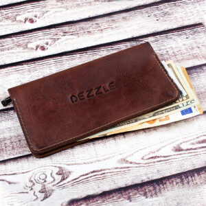 Крутой мужской купюрник «Dezzle» ручной работы из винтажной кожи купить. Цена 790 грн