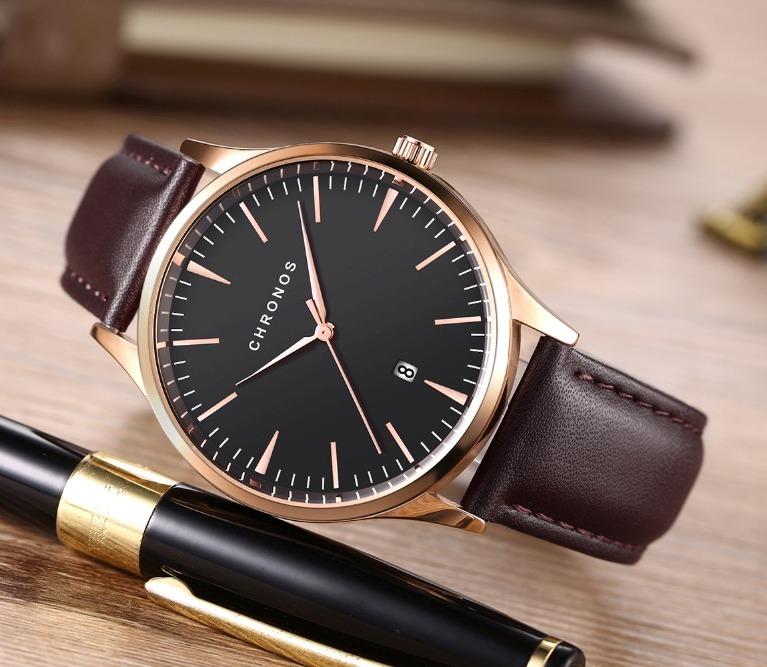 Классические мужские часы «Chronos» с функцией отображения даты купить. Цена 770 грн