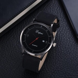 Повседневные мужские часы «Lupai» с чёрным корпусом и ремешком купить. Цена 299 грн