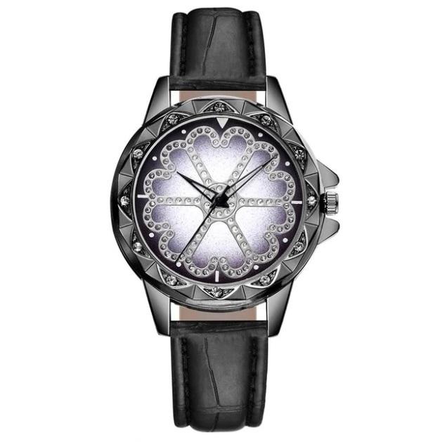Чёрные женские часы «Yolako» с фигурным корпусом и чёрным ремешком купить. Цена 245 грн