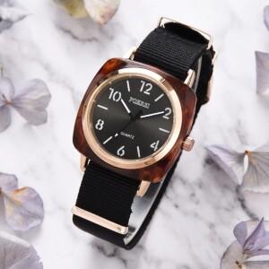 Тактические женские часы «Poersi» с чёрным нейлоновым ремешком купить. Цена 245 грн