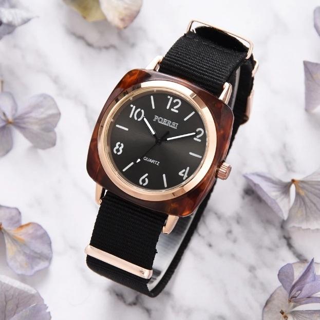 Тактические женские часы «Poersi» с чёрным нейлоновым ремешком купить. Цена 275 грн