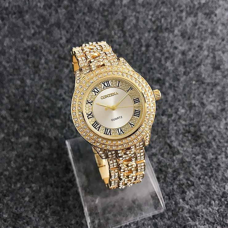 Богатые часы «Contena» с римскими цифрами и красивым браслетом купить. Цена 699 грн