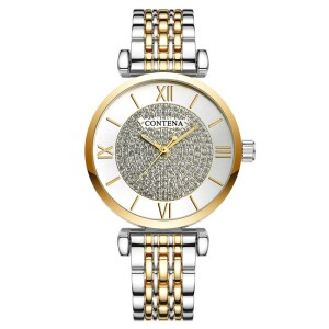 Двухцветные часы «Contena» с красивым металлическим браслетом купить. Цена 599 грн