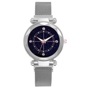 Актуальные часы «Vansvar Sirius» серебристого цвета с ремешком-кольчугой купить. Цена 350 грн