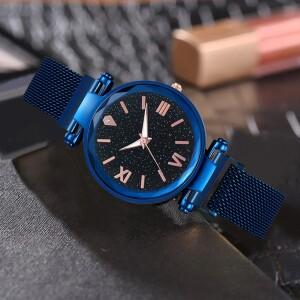Синего цвета часы «Vansvar Starry Sky» с магнитной застёжкой купить. Цена 335 грн