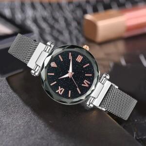 Серебряные часы «Vansvar Starry Sky» с ремешком-кольчугой на магните купить. Цена 335 грн