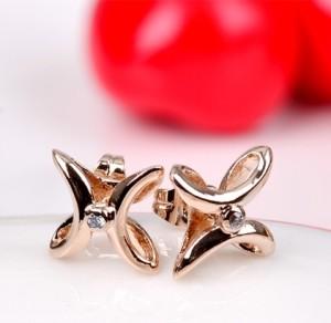 Маленькие абстрактные серьги «Лунатики» (бренд-ITALINA) с высококачественным золотым напылением купить. Цена 140 грн или 440 руб.