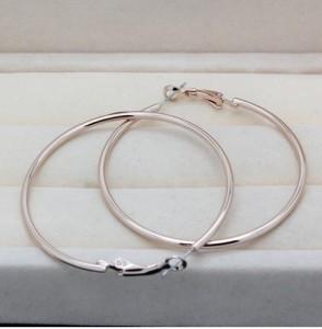 Массивные серьги «Большие кольца» из сплава с высококлассным золотым напылением фото 1