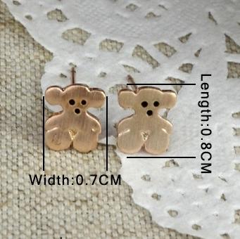 Крошечные серьги «Мишки» (бренд-ITALINA) с 18-ти каратным золотым напылением, без камней и вставок купить. Цена 125 грн