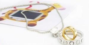 Железная подвеска «Кольцо в кольце» с кулоном золотого и серебристого цветов купить. Цена 99 грн или 310 руб.