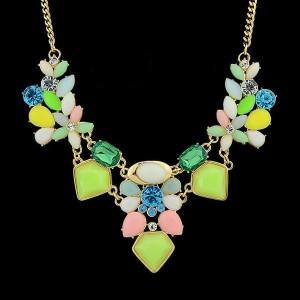 Весёленькое ожерелье «Веснянка» с разноцветными камнями и цветными стразами купить. Цена 185 грн