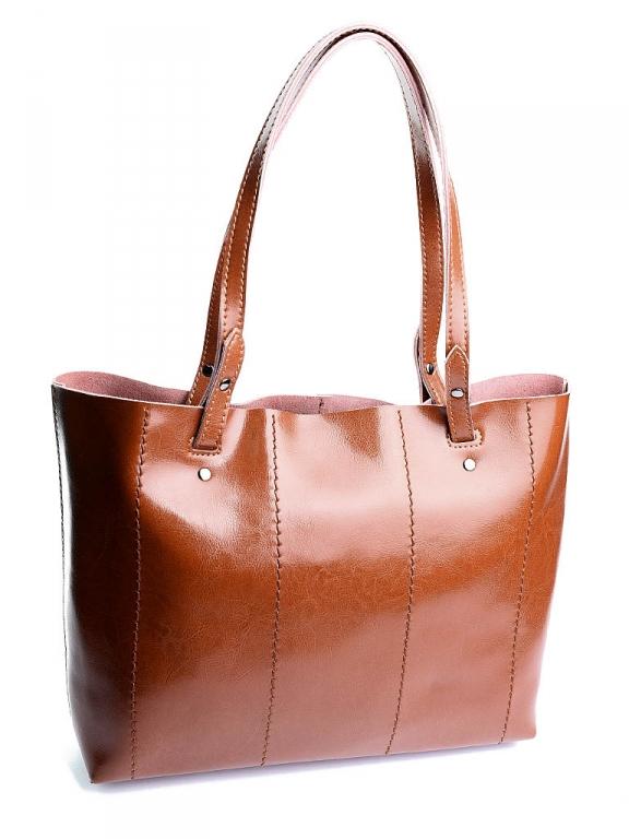 Рыжая женская сумка «Alex Rai» из натуральной гладкой кожи купить. Цена 1490 грн