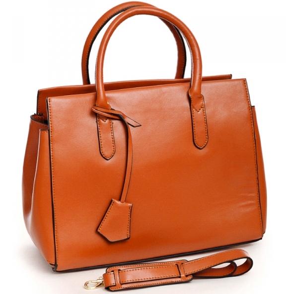 Деловая женская сумка «Diweilu» из плотной кожи рыжего цвета купить. Цена 1330 грн