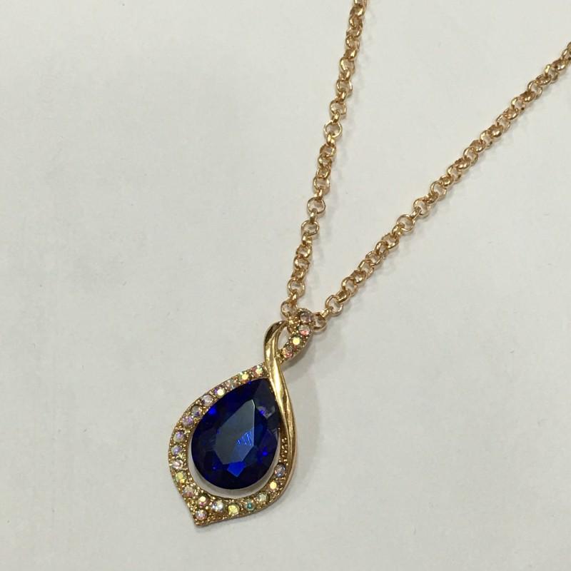 Симпатичная подвеска «Эльза» с крупным синим камнем купить. Цена 110 грн