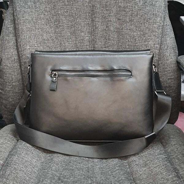Деловая мужская сумка «SFiP» большого формата из высококачественной кожи фото 1