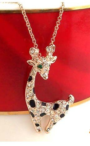 Прикольная подвеска «Жираф» (бренд-ITALINA) с 18-ти каратным золотым напылением и кристаллами Сваровски купить. Цена 240 грн