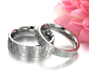 Парные кольца «Luxury» для влюблённых из медицинской стали купить. Цена 180 грн