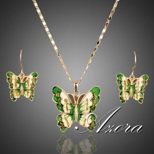 Изящный набор «Беспечность» (бренд-AZORA) с кулоном и серьгами в виде бабочек, покрытых эмалью купить. Цена 480 грн или 1500 руб.