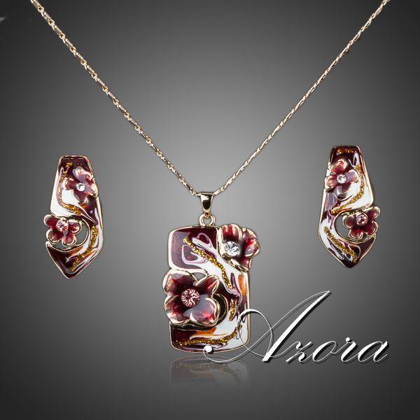 Эксклюзивный набор «Превосходство» (бренд-AZORA) с цветной эмалью и кристаллами Сваровски купить. Цена 590 грн