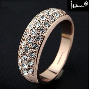 Обыкновенное кольцо «Пальмира» (бренд-ITALINA) с кристаллами Сваровски и позолотой купить. Цена 225 грн