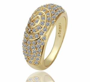 Старинное кольцо «Самарканд» (бренд-ITALINA) с покрытием из жёлтого золота и стразами Swarovski купить. Цена 160 грн