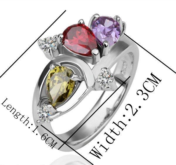 Яркое кольцо «Суматра» (бренд-ITALINA) с цветными камнями Сваровски и напылением из белого золота купить. Цена 220 грн